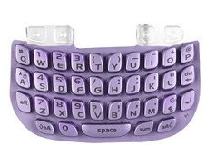 blackberry curve 8520 key keyboard keypad light purple