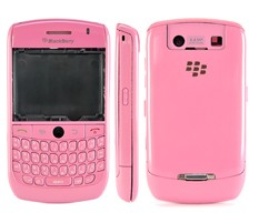 blackberry javelin curve 8900 housing faceplate cover metalic pink blue green