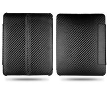 carbon fiber magnetic filp folder leather slim hard case ipad