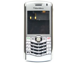 housing faceplate cover silver blackberry pearl 8130
