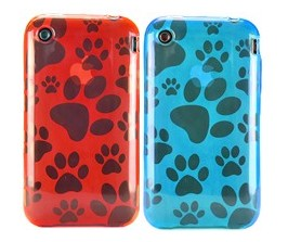 dog paw pattern silicone skin case