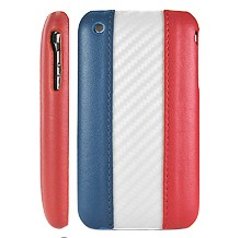 france flag leather hard case