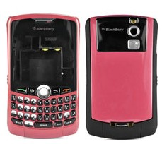housing faceplate cover metalic pink blackberry curve 8330