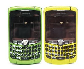 housing faceplate cover yellowand green blackberry curve 8300 8310 8320