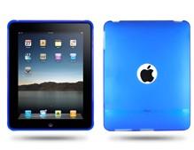 hole soft silicone skin case cover ipad blue