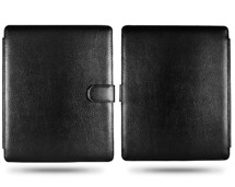 leather snap fastener flip case cover pouch ipad
