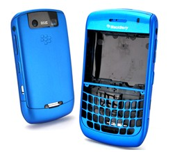 matte housing faceplate cover blue blackberry javelin curve 8900