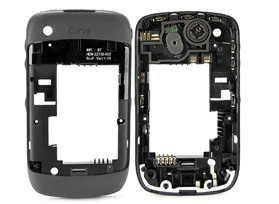 replacement middle frame cover faceplate rubbery side grips blackberry curve 8520 gre
