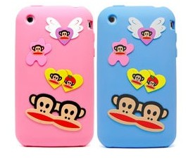 paul frank butterfly silicone case apple iphone 3gs 3g