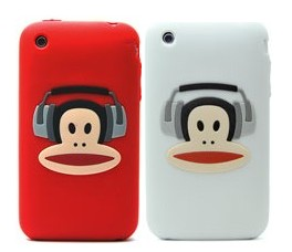 paul frank earphone silicone case apple iphone 3gs 3g