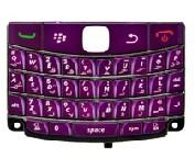 purple blackberry bold 9700 9020 onyx frosted arabic keypad keyboard