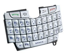 replacement keypad keyboard silver blackberry 8800 8820 8830