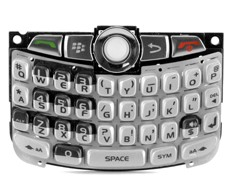 replacement keypad keyboard joystick trackball silver blackberry curve 8330