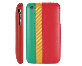 south africa flag leather hard case