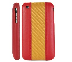 spain flag leather hard case cover