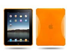 soft silicone skin case ipad orange