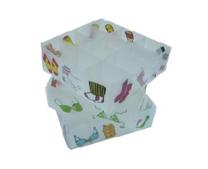 underwear storage box plastic bar