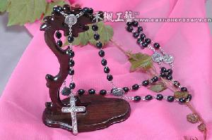 wooden beads catholic rosary