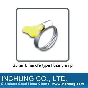butterfly handle hose clamp garden hardware