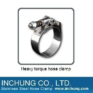 heavy torque hose clamp automotive marine hardware