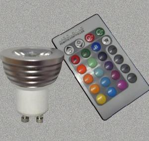 led spotlight gu10 ir remote control
