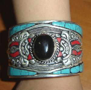tibetan turquoise carnelian bracelet