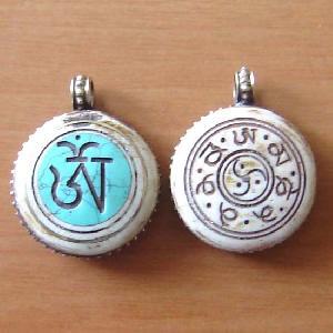 tibetan yak bone pendant