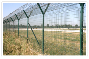 welded wire mesh fence military installations