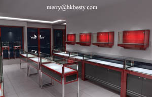 cabinet showcases jewelry store