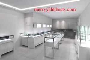 glass display showcases arrangements