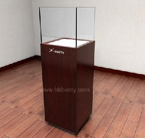 glass wooden watch display showcase counter case showroom 1