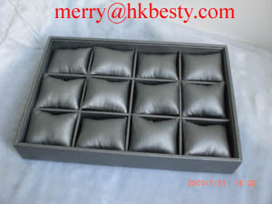 jewelry bracelet watch display tray pillows grey