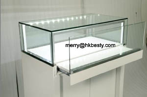 led lighting glass show cases
