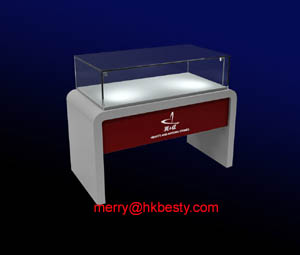 wooded jewellery display showcases led lighting boxes