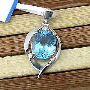factory sterling silver blue topaz pendant citrine ring ruby fashion jewe