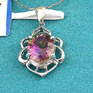 factory sterling silver rainbow pendant jewelry citrine ring ruby