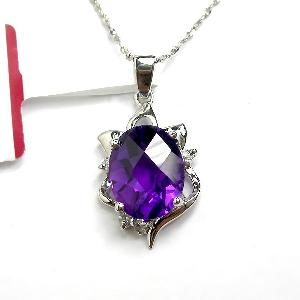 manufactory sterling silver amethyst pendant smoky quartz ring sapphire earring