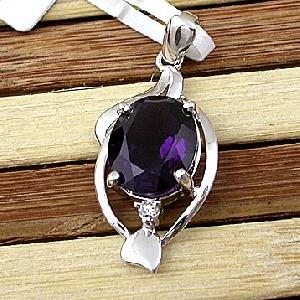 sterling silver amethyst pendant citrine earring ring fashion jewe