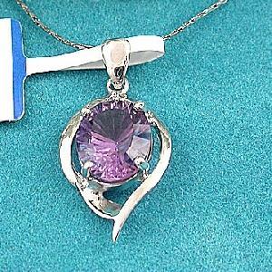 sterling silver amethyst pendant moonstone earring ring bracelet fashion jewelry