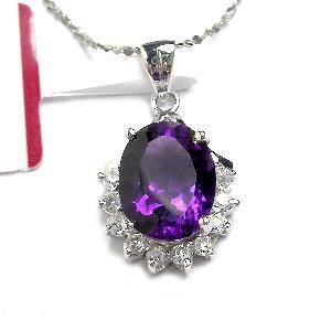 sterling silver amethyst pendant ring citrine earring bracelet olivine