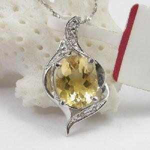 sterling silver citrine pendant moonstone earring fashion jewelry