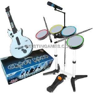 wii ps2 ps3 3in1 crazy band drum guitar