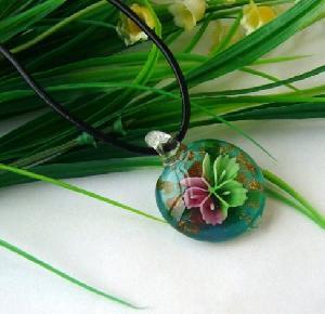 blossom murano glass pendant