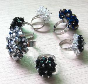 wholesale crystal glass rings