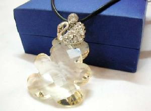 wholesale crystal teddi bear pendant