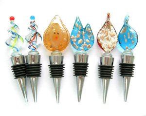wholesale murano glass bottle stopper