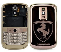 blackberry bold 9000 housing faceplate cover matte frame metal ferrari