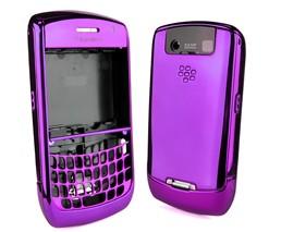 chrome housing faceplate cover purple blackberry javelin curve 8900