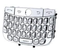 chrome keypad keyboard blackberry javelin curve 8900 silver