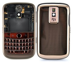 housing faceplate cover coffee matte frame copper metal blackberry bold 9000